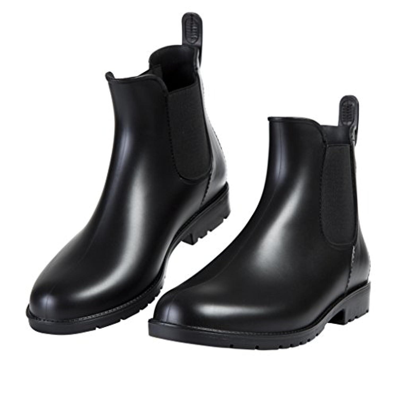 [Shevalues] レディース&メンズ レインシューズ ショートブーツ 無地 大きいサイズ サイドゴア レインブーツ 梅雨(22.0cm~26.5cm)