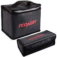 FCONEGY リポバッテリーバッグ 収納ケース 貴重品保管 電池保管袋 安全 二重防炎 耐熱 防水/防爆/耐火/防炎L…
