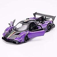 Ycco モデルダイカスト車合金車モデルシミュレーションシミュレーション合金モデル、スケール:1:32ダイカストモデル車の音と光のシミュレーション趣味のおもちゃ車休日の誕生日プレゼント ( Color : R-purple )