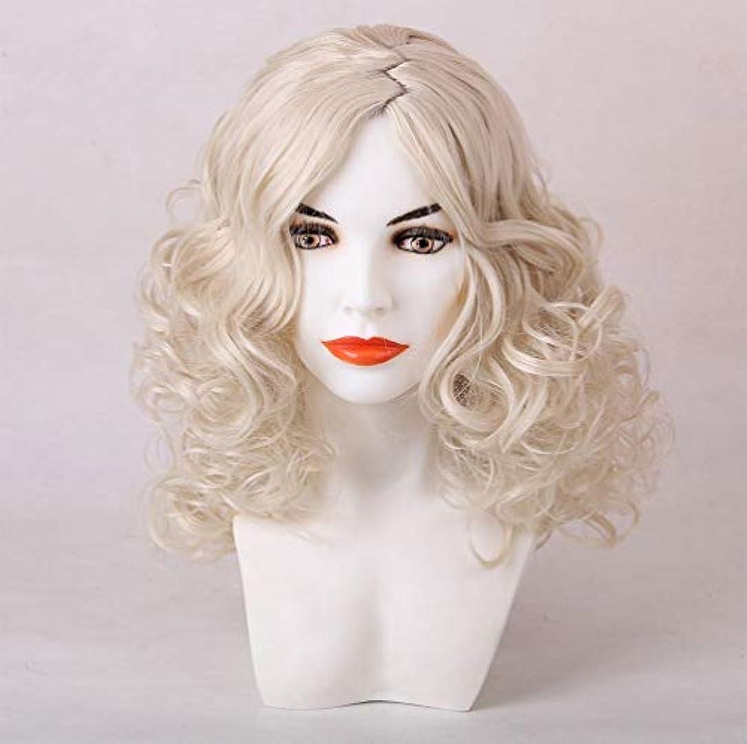 ターミナル練習乱す女性かつら合成ブラジルのremy毛プレ摘み取ら漂白ノットライトゴールド50センチ