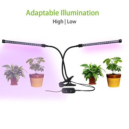 Lovebay 植物ライト 植物LED ライト 植物育成用 ダブルチューブ クリップ式 調節でき 低消耗電力 省エネルギ 長寿命 室内用 ガーデン・温室フラワー・水耕栽培適用(改良版)