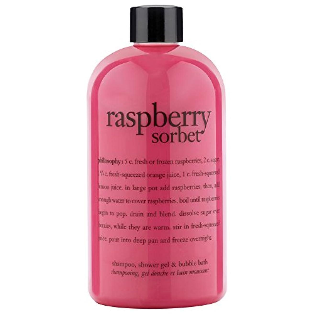 クレデンシャル眠いです本質的に哲学ラズベリーシャワージェル480ミリリットル (Philosophy) (x6) - Philosophy Raspberry Shower Gel 480ml (Pack of 6) [並行輸入品]