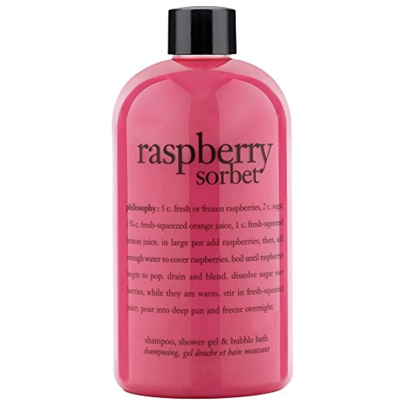 広い知らせる文字哲学ラズベリーシャワージェル480ミリリットル (Philosophy) - Philosophy Raspberry Shower Gel 480ml [並行輸入品]