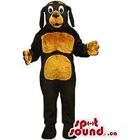 ブラウンベリーと口ではカスタマイズされたブラックドッグマスコットSpotSoundカナダ