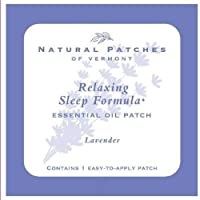 Natural Patches Of Vermont Lavender Sleep Comfort Essential Oil Body Patches, Single Patch Pouch