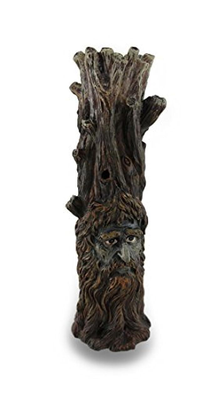 ルーシェトランド諸島プロフェッショナルTree Of Wisdom Incense Tower Green Man and Green Lady Burner Box Statue