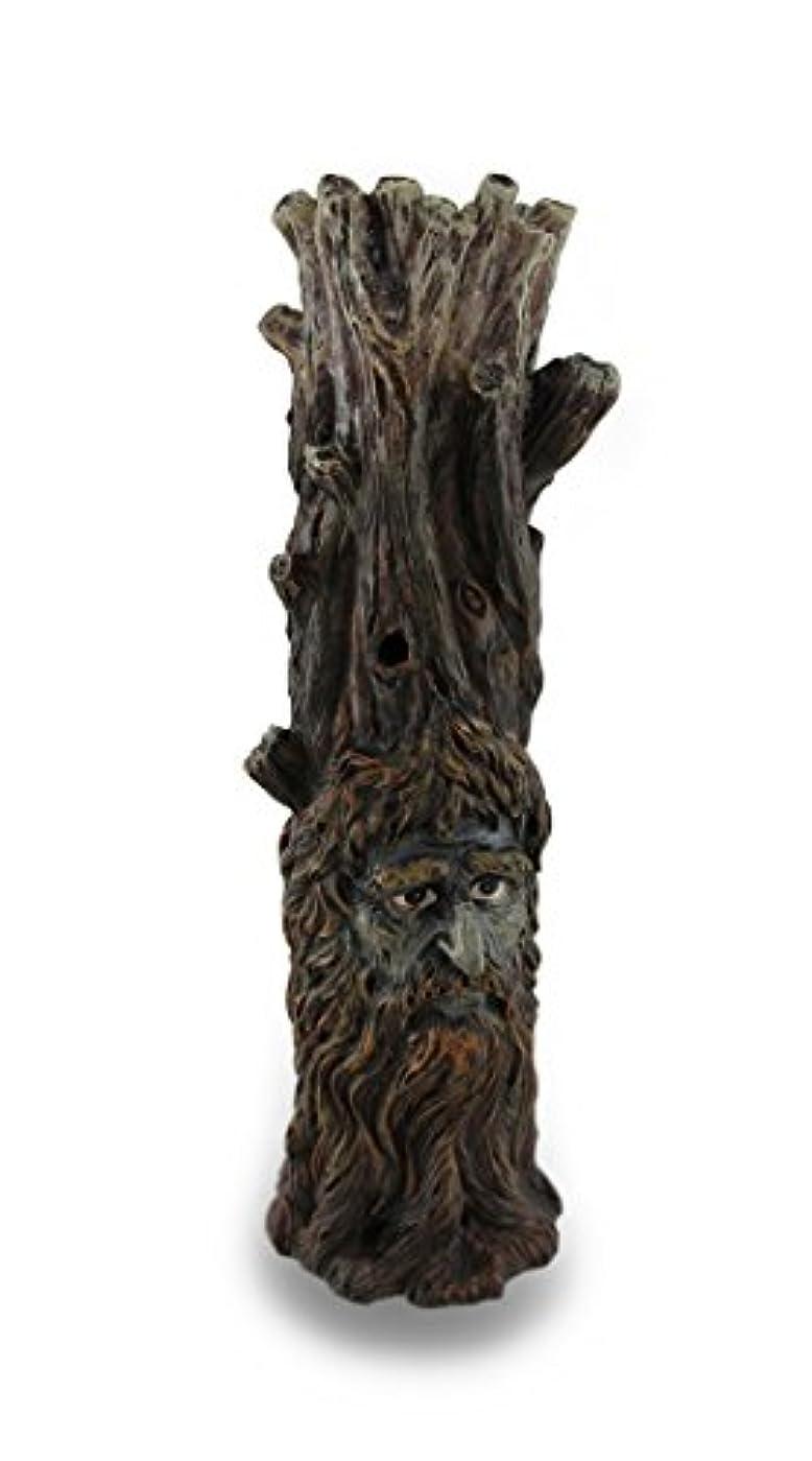 大騒ぎ母音コーヒーTree Of Wisdom Incense Tower Green Man and Green Lady Burner Box Statue
