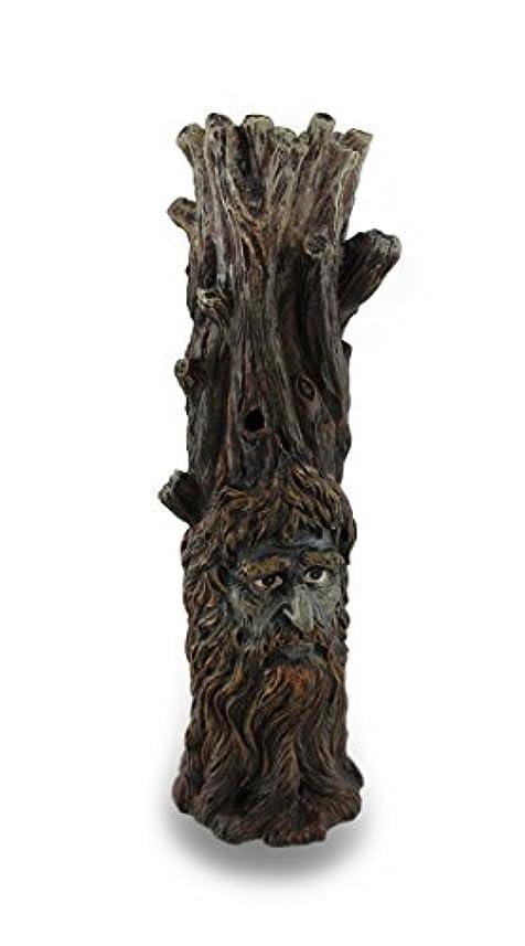 代わって療法紀元前Tree Of Wisdom Incense Tower Green Man and Green Lady Burner Box Statue