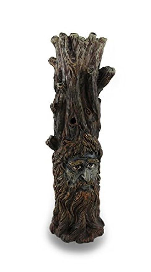 中に飢えた立証するTree Of Wisdom Incense Tower Green Man and Green Lady Burner Box Statue