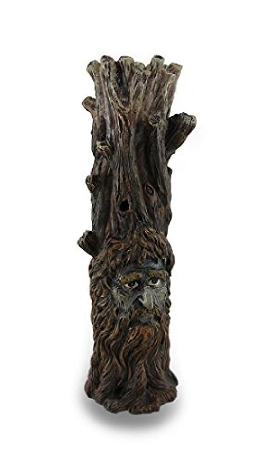 記憶レザー進化Tree Of Wisdom Incense Tower Green Man and Green Lady Burner Box Statue