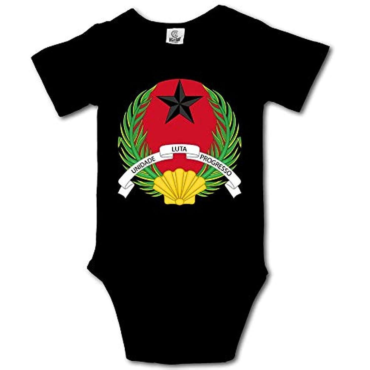 休戦一致慢Guinea-Bissau logoヒップホップ新生児0-24ヶ月赤ちゃんクロールクライミングコスチューム赤ちゃんクロールスーツ男の子向け女の子6M