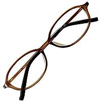 アイウェアエア 老眼鏡 おしゃれ レディース メンズ ブルーライトカット +0.5~+3.5 4色 オーバル ショコラブラウン +2.00