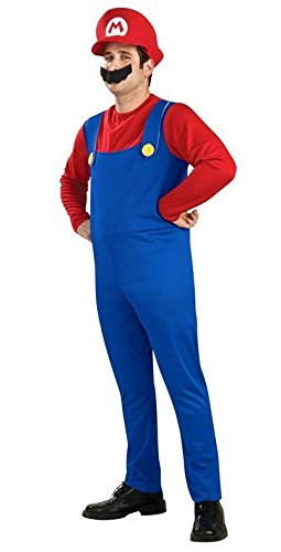 [Unbranded products: Super Mario Bros. Mario-inspired costume for adults [4-piece set costume + Hat + limped + glove] (L size)