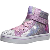 Skechers Kids Girls' TWI-Lites-Holla-Glam Sneaker