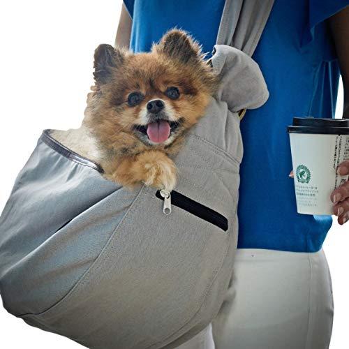 ドッグスリング ペットスリング バッグ 犬 抱っこ紐 小型犬 中型犬 メッシュ 10kg リング 耐久性 ペット ス...