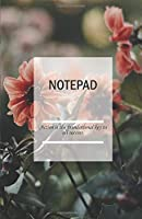 Notepad; Action is the foundational key to all success.: Notebook A5 Squared: easy to use for Daily Records and Tasks with over 100 Squared Pages to capture your Ideas  (Notepad Squared, Sketchbook A5, Pocketbook)