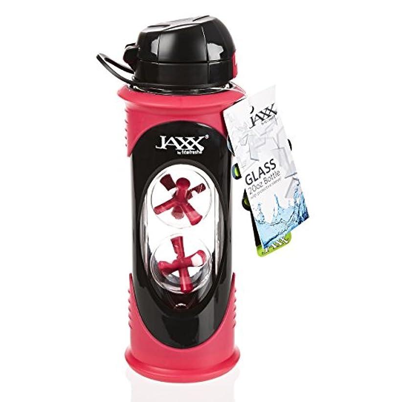 添加剤グリット受粉するFit & Fresh Jaxx Glass Bottle, 20 oz, Pink by Fit & Fresh
