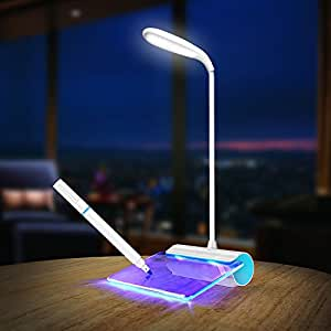 MOCREO(モクリオ) LEDデスクライト 電気スタンド 手書きメッセージボード付き ギフト最適(ブルー)