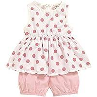 bilison Toddler Baby Girl Clothes Sleeveless Ruffle Polka Dot Vest Top Short Pants Summer Outfit Set for Girls Kids