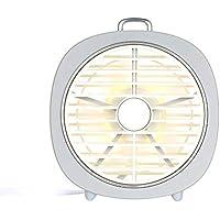 SHANGRUIYUAN-Mini Fan Multifunction Mini USB Table Fan 3 Speeds 180° Wind Direction with Night Light Desktop Fan for Office Home Bedroom (Color : White)