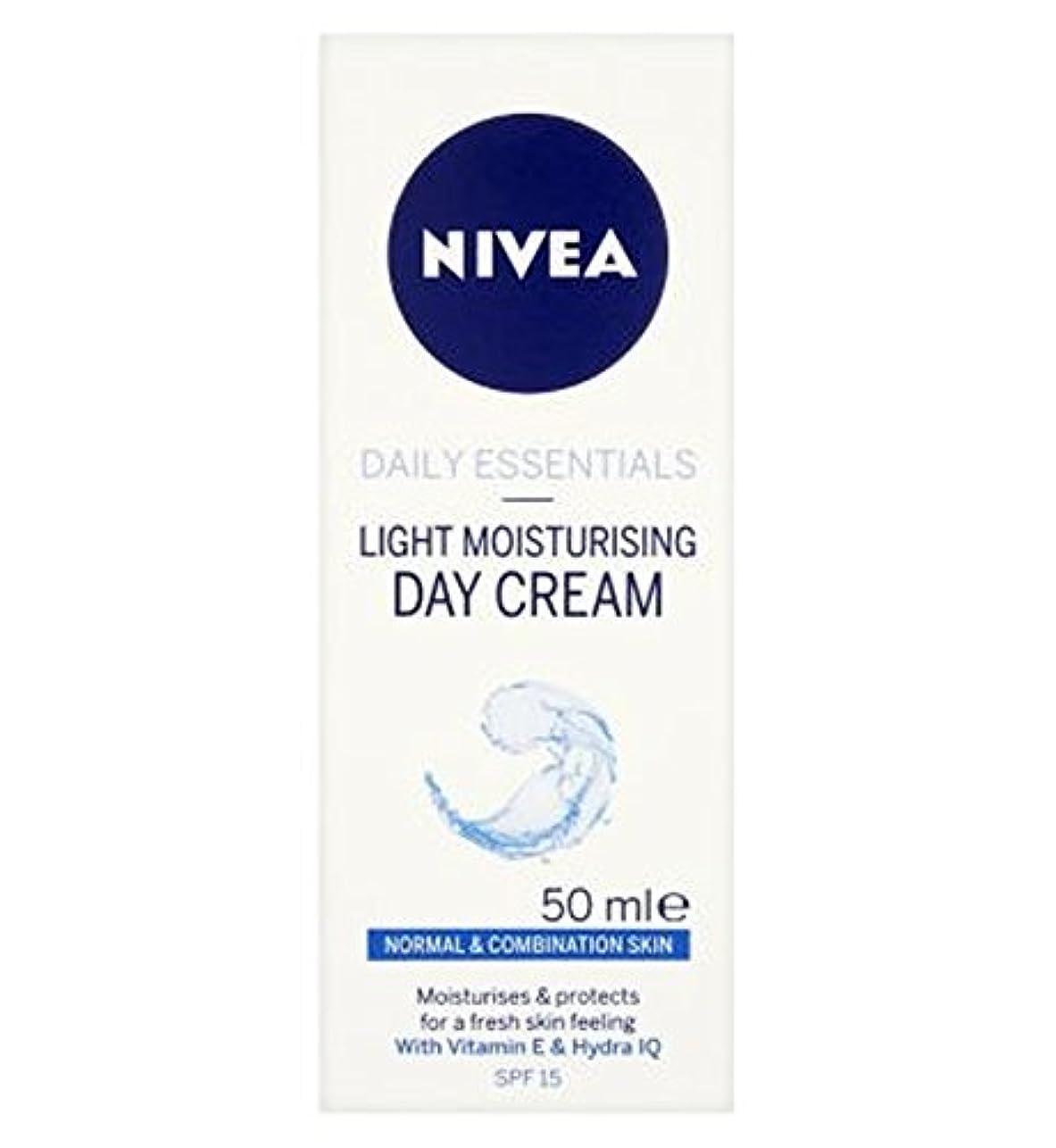 静けさワーカー遠足混合肌のSpf15の50ミリリットルに、通常のためのニベア生活必需光保湿デイクリーム (Nivea) (x2) - Nivea Daily Essentials Light Moisturising Day Cream...