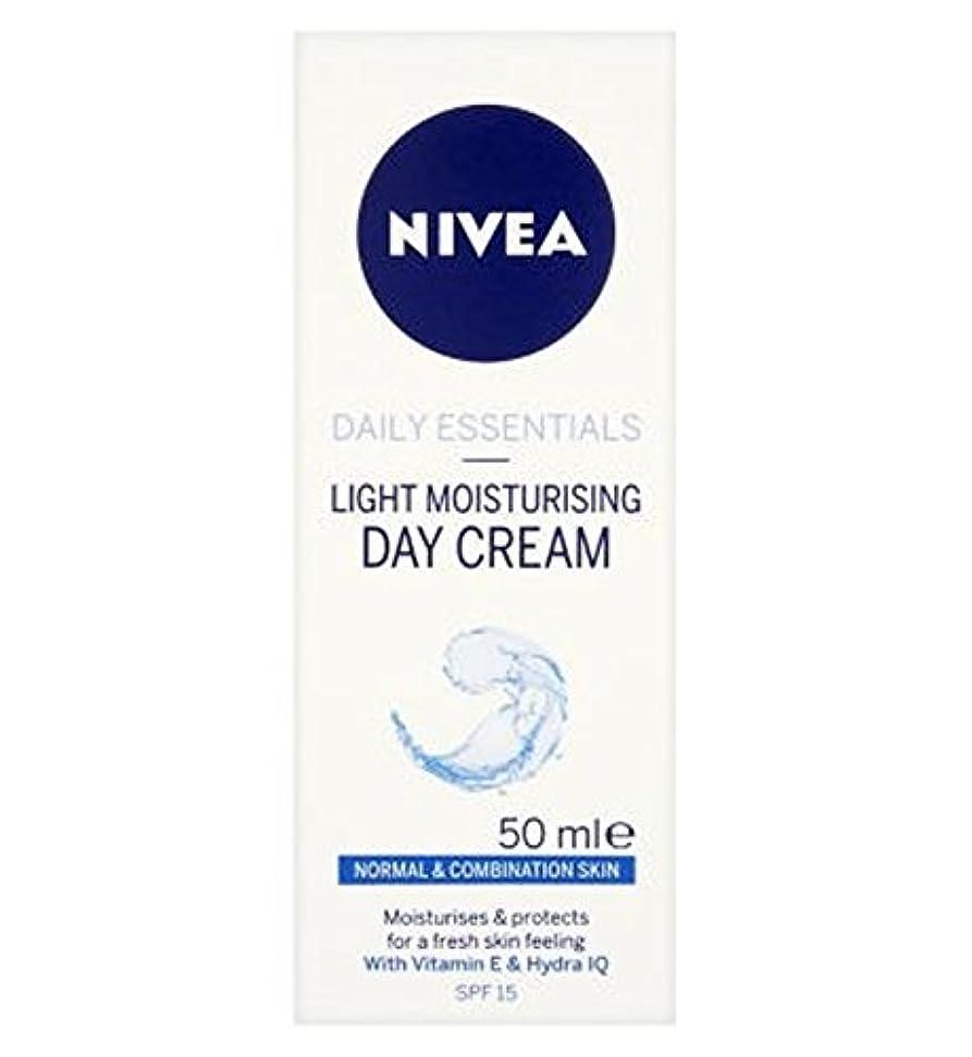 廃止微弱コントローラ混合肌のSpf15の50ミリリットルに、通常のためのニベア生活必需光保湿デイクリーム (Nivea) (x2) - Nivea Daily Essentials Light Moisturising Day Cream...