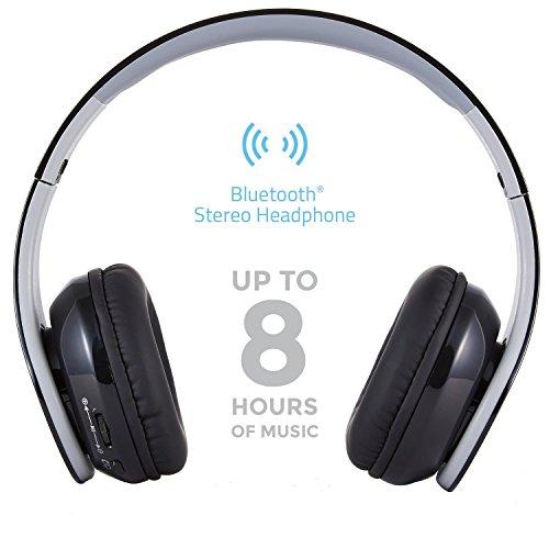 kinganda 密閉型Bluetoothヘッドフォン 3.5mmオーディオ有線ヘッドセット (ブラック)