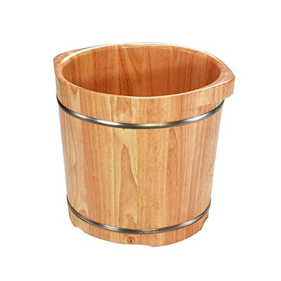 チート接辞リラックスフットタブ バブルフットバケツプラスハイ泡フットペディキュアフットバスバレル木製浴槽フットバスバレルラバーウッド足浴槽 (Color : A)