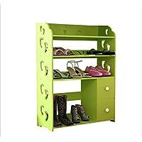 靴ラック、彫刻された靴箱木製パネル多機能防塵コンビネーションブーツキャビネット(ホワイト)