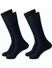靴下 メンズ ビジネスソックス カジュアル 綿 抗菌 防臭 ムレ防止 消臭加工 リブ編み 吸湿抜群 丈夫 紳士用 24-28cm ブラック 2足セット 5足セット