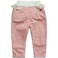 eTree Little Girlsベビー乳児幼児用スノーフレークレースBowknowコットンパンツ