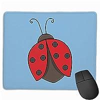 てんとう虫の翼マウスパッド楽しいゲーミングマウスパッド、滑り止めマウスパッド