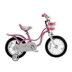ROYALBABY(ロイヤルベイビー) 16インチ 補助輪付き 子ども用 自転車 ピンク [メーカー保証1年] チェーンケース カゴ リアキャリア RB-WE LITTLE SWAN