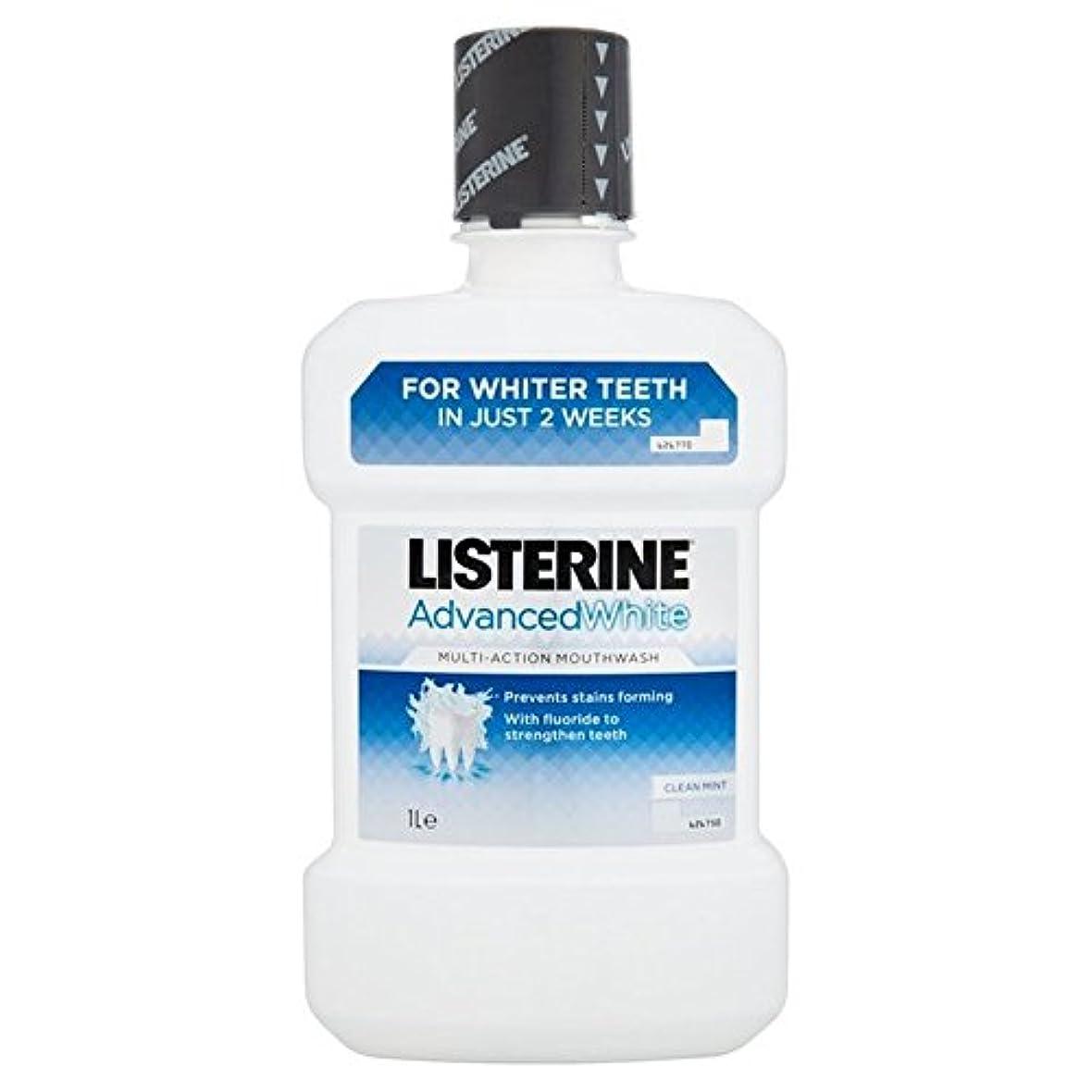 読むピクニックをするパイプListerine Advanced Whitening Mouthwash 1L - リステリンは、マウスウォッシュの1リットルをホワイトニング高度 [並行輸入品]