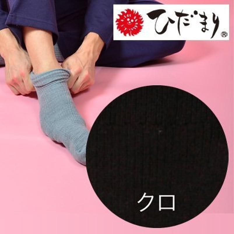 寝室を掃除する自動的に艶ひだまり ダブルソックス 紳士用 黒 24~26cm