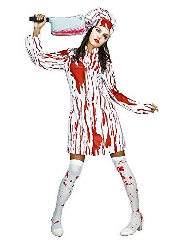 Veroman レディース コスプレ ゾンビ ナース 血のりペイント済 ハロウィン 衣装 仮装 フリーサイズ (看護婦)