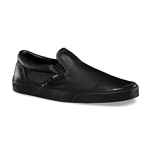 [VANS] VANS 유니  PREMIUM LEATHER SLIP-ON 레더 스니커즈- (Size:US12M(30cm)|Color:BLACK/MONO)