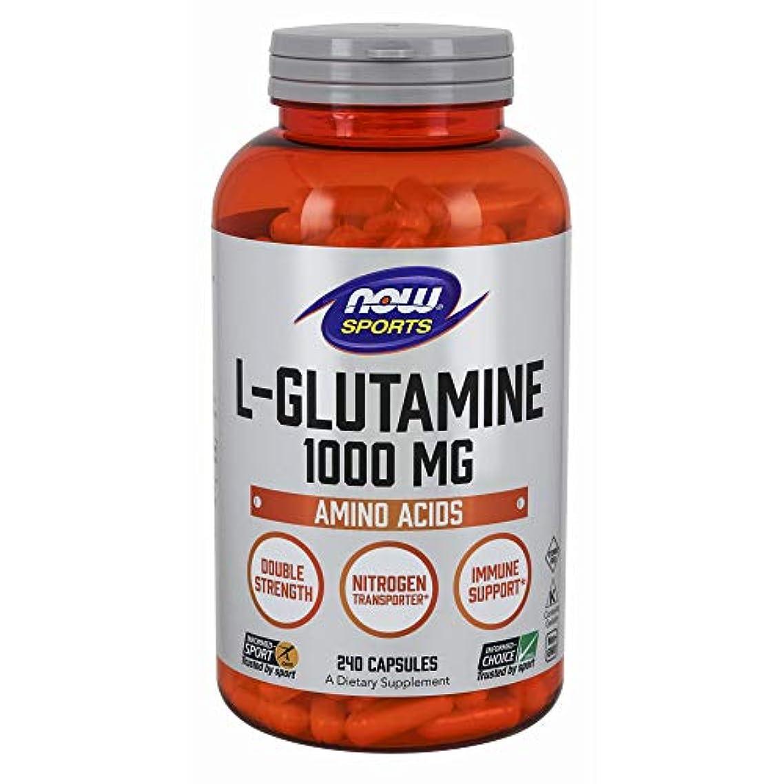 船乗り処理スロー[海外直送品] ナウフーズ  - Lグルタミン 1000 mg。240カプセル