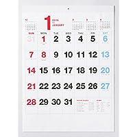 実用シンプル 格安 2018年 カレンダー 壁かけ 書き込みスペースたっぷり型 B3 MU-002