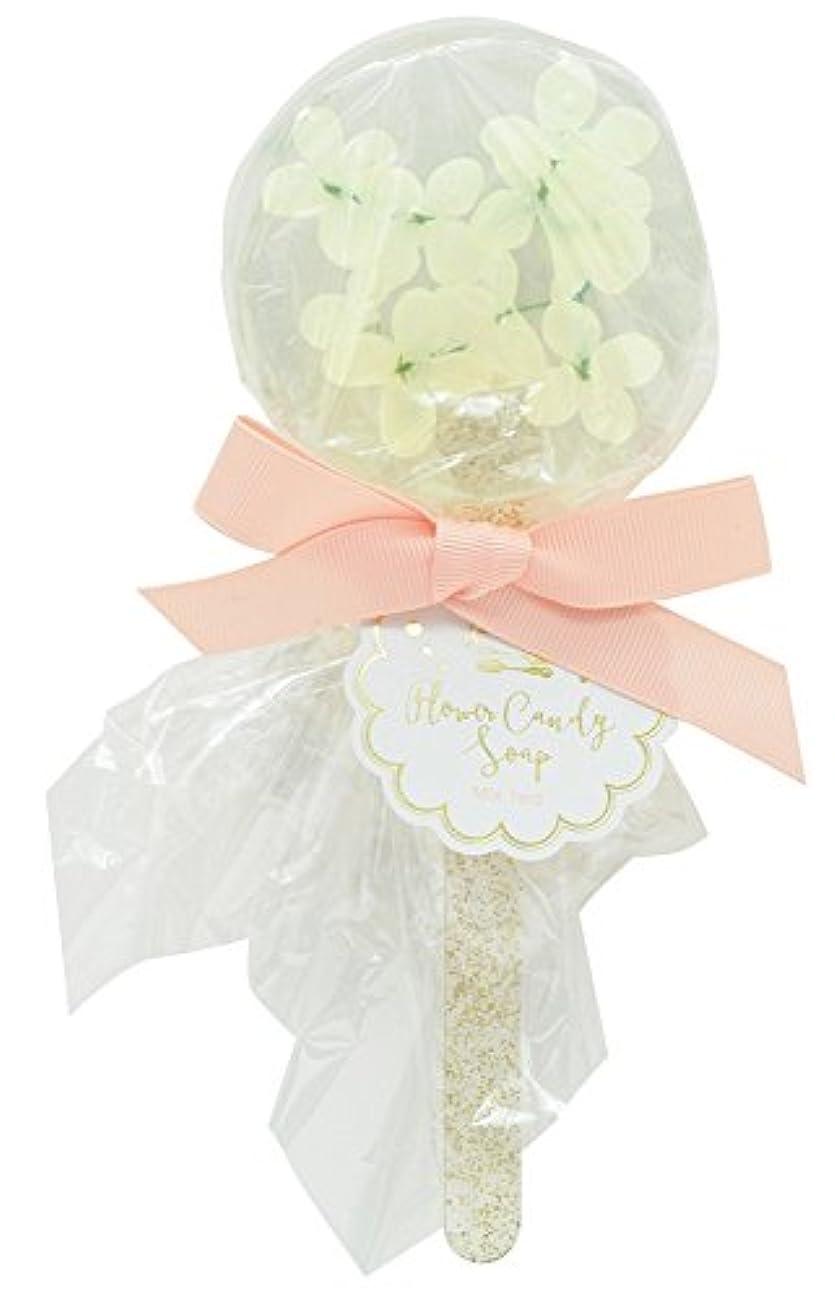 舌な現像精査ノルコーポレーション 石鹸 フラワーキャンディ ソープ ホワイトミニフラワー 75g ミックスティー の香り OB-SMP-10-4