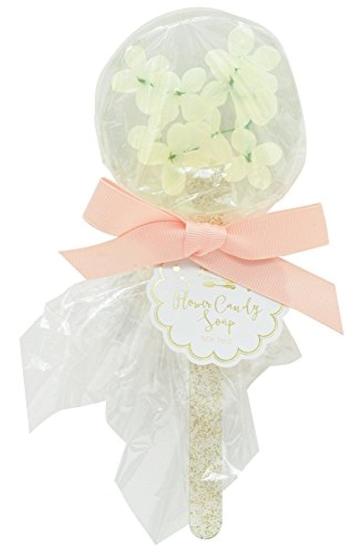 ノルコーポレーション 石鹸 フラワーキャンディ ソープ ホワイトミニフラワー 75g ミックスティー の香り OB-SMP-10-4