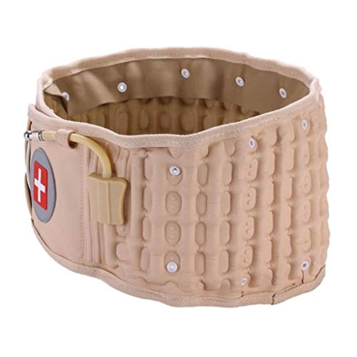 ピンク考古学的な私たちのものインフレータブルベルト、医療安全腰椎椎間板減圧ベルト、腰椎減圧ストラップベルト、腰痛を和らげる、優れた贈り物