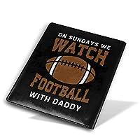 WBDLJHAブックカバー9x11 In On Sundays We Watch Football With Daddy ブックカバー 文庫 コンサイス 皮革調 手作り手帳 日記帳 システム手帳 アンティーク ブックカバー 詰め替えレザートラベルジャーナル執筆日記 卒業記念品