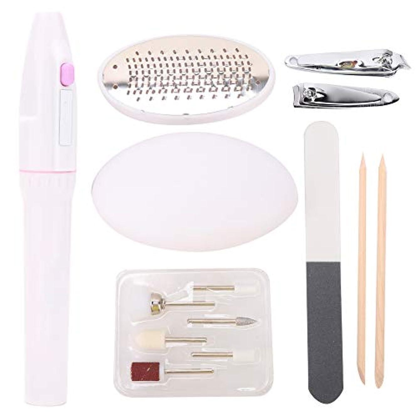 細い人工変な携帯用電気釘やすりの穴あけ機のマニキュアのペン
