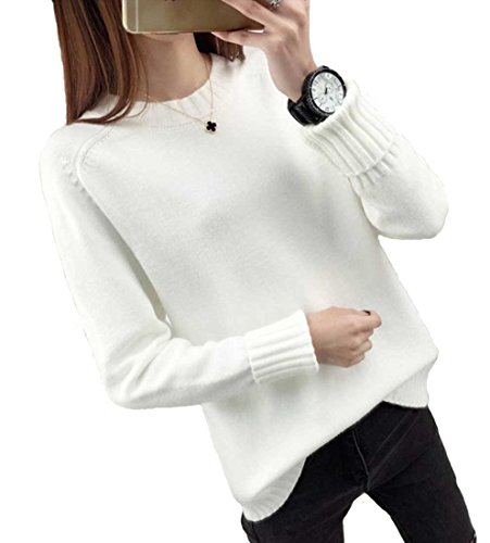 Heaven Days (Haven Days) knit sweater knit pullover round neck folded rib sleeves relax Ladies 1710M0167