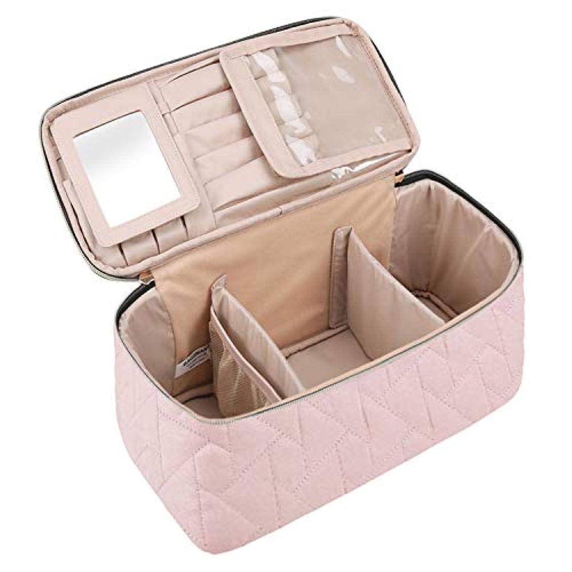 登るラグ仲人(バッグスマート) BAGSMARTメイクボックス コスメボックス 化粧ポーチ メイクブラシバッグ 収納ケース 機能的 大容量