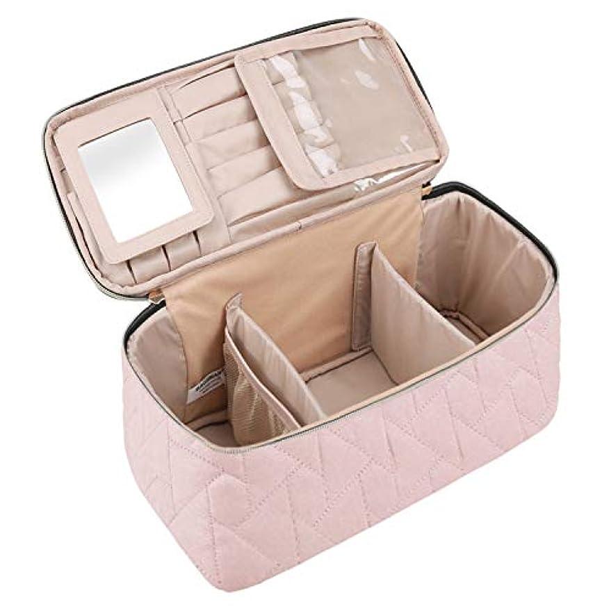 謎不適当一方、(バッグスマート) BAGSMARTメイクボックス コスメボックス 化粧ポーチ メイクブラシバッグ 収納ケース 機能的 大容量