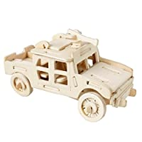 4507f8783f65 joyeeer 3d木製ジグソーパズル – SUV – 子供教育木製クラフトパズルトイDIYキットfor
