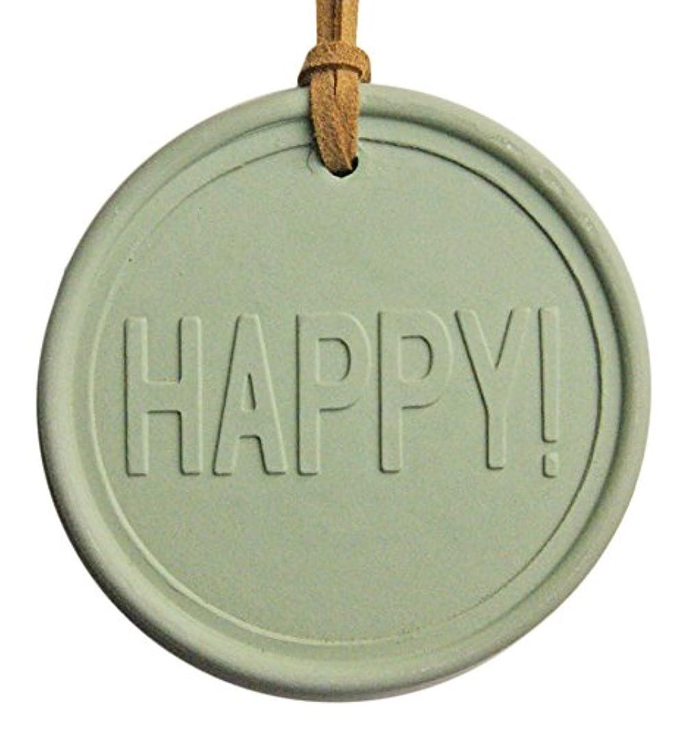 モロニック隣接するかび臭いKAVAアロマプレート&アロマオイルセット (アロマプレート:HAPPY! 緑、アロマオイル:沖縄ハイビスカス&ローズの香り 5ml)