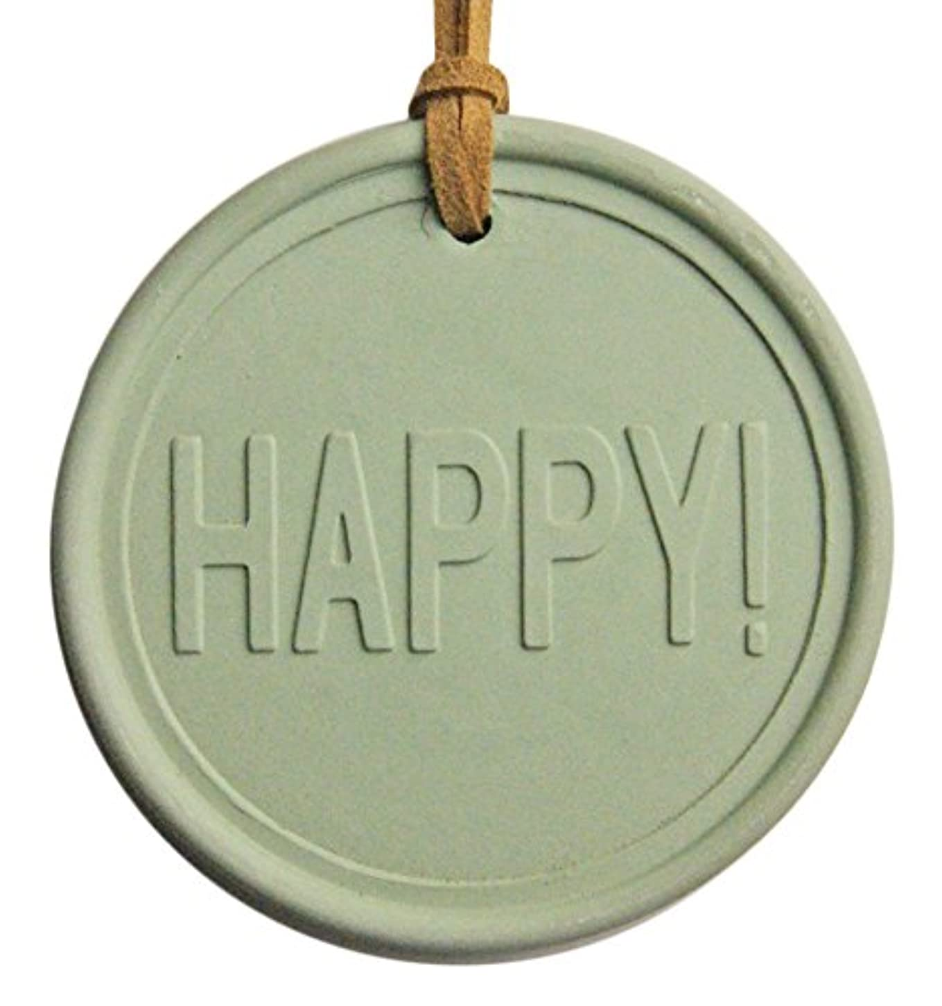 シルエット永久ショートKAVAアロマプレート&アロマオイルセット (アロマプレート:HAPPY! 緑、アロマオイル:沖縄ハイビスカス&ローズの香り 5ml)